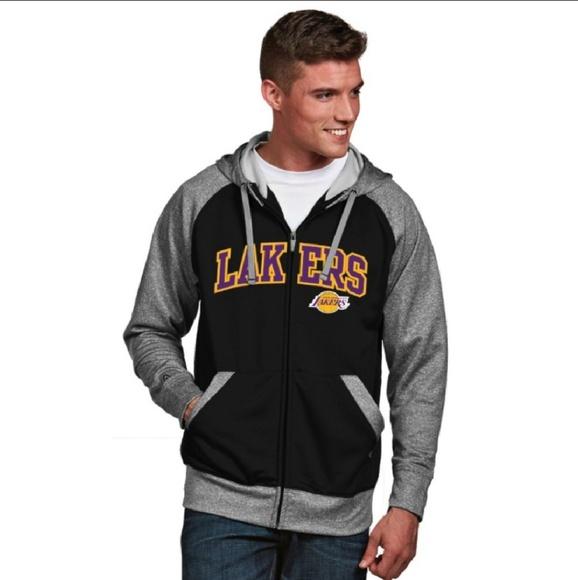 Antigua Shirts Lakers La Zip Up Hoodie Los Angeles Sweatshirt Poshmark